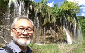 FAMOUS ARTIST: Stan Sakai enjoying Plitvice Lakes and meeting Nikola…