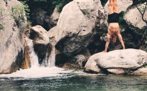 """It`s my ritual to do a handstand at every beautiful…"