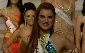 MISS WORLD 2008 Croatian representative in a silk dress called…