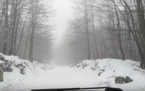 VIDEO Car adventure on a snowy Velebit