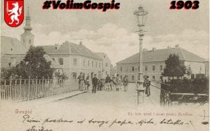 Rare vintage postcards from Gospić