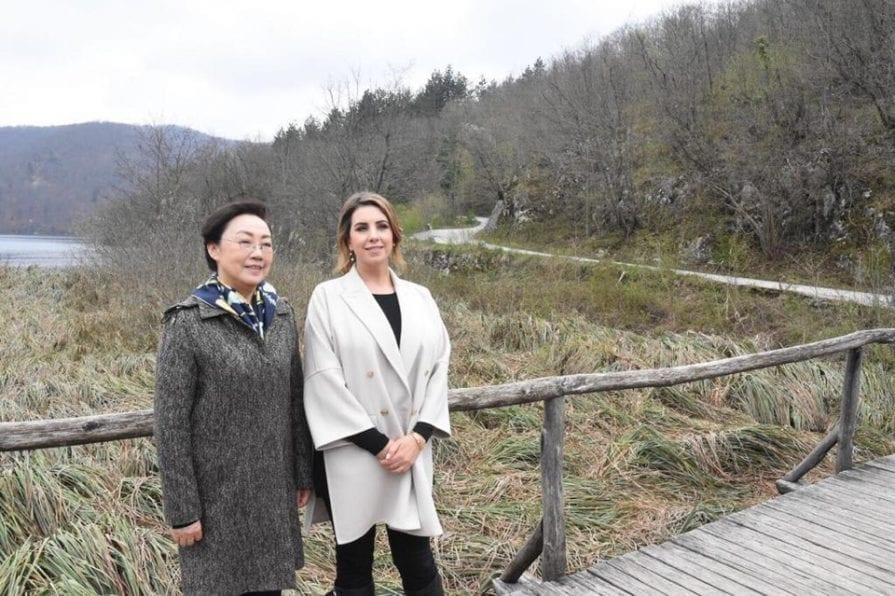 CHINA/CROATIA Wives of prime ministers at Plitvice Lakes | Plitvice