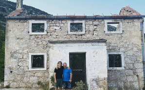 Luka Modrić in front of the house where he grew…